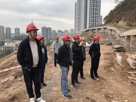 六〇四大队对重点在建项目开展安全质量检查